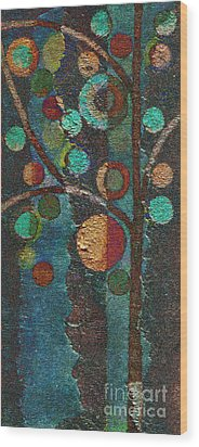 Bubble Tree - Spc02bt05 - Left Wood Print by Variance Collections