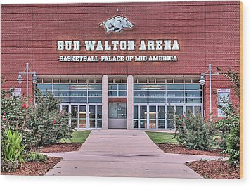 Bud Walton Arena Wood Print by JC Findley