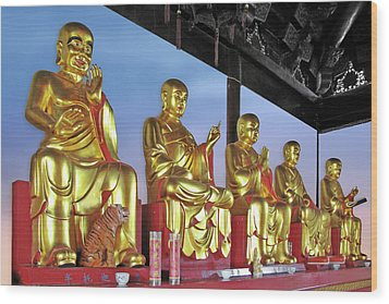 Buddhas Delight - Representations Of Buddhism Wood Print by Christine Till