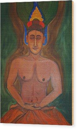 Budha In Nirvana Wood Print by Harpreet Singh