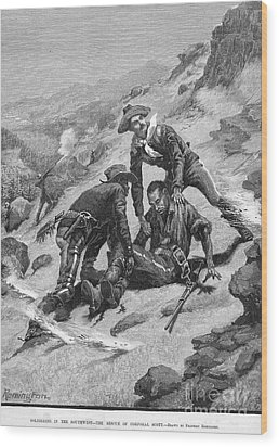Buffalo Soldier, 1886 Wood Print by Granger