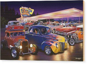 Burger Bobs Wood Print by Bruce Kaiser