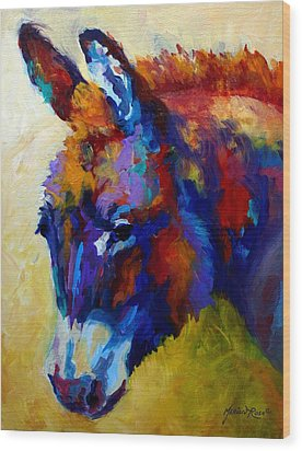 Burro II Wood Print by Marion Rose