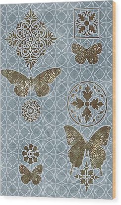 Butterfly Deco 1 Wood Print by JQ Licensing