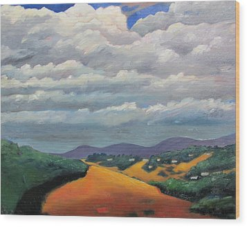 Ca Cloudscape Wood Print by Gary Coleman