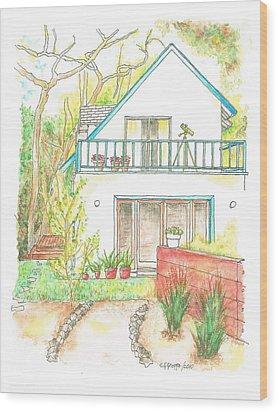 California-house Wood Print by Carlos G Groppa