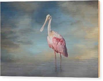 Call Me Rosy Wood Print by Kim Hojnacki