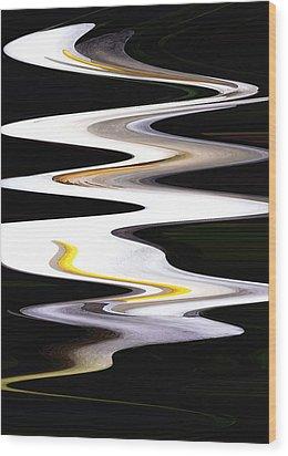 Calla River Wood Print by Norman  Andrus