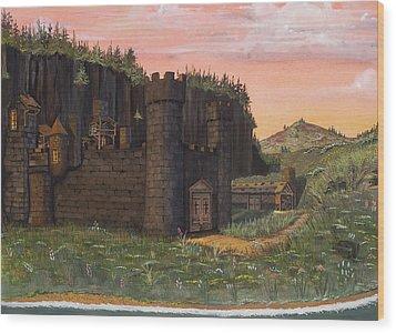 Camlochlin Castle Wood Print by James Lyman