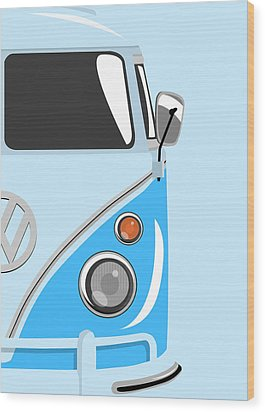 Camper Blue 2 Wood Print by Michael Tompsett