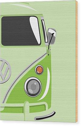 Camper Green 2 Wood Print by Michael Tompsett