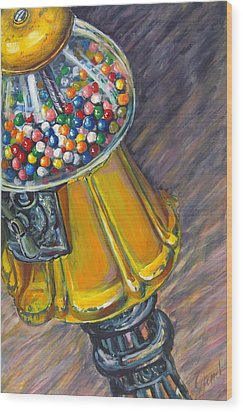 Can I Have A Penny Please Wood Print by Jami Childers