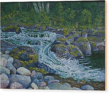 Canyon Creek Cadence Wood Print by Ron Smothers