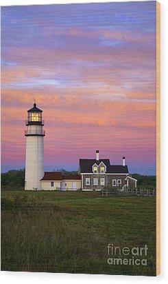 Cape Cod Light Truro Wood Print by John Greim