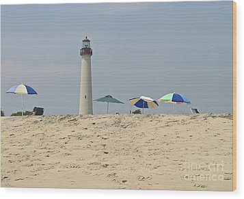 Cape May Lighthouse View Wood Print by Andrew Kazmierski
