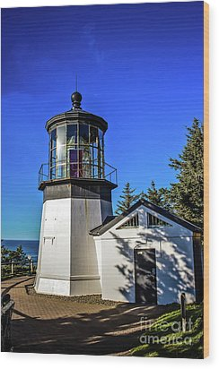 Cape Meares Lighthouse Wood Print by Jon Burch Photography