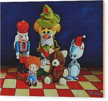 Captain Candycorns Dollhouse Choir Wood Print by Doug Strickland