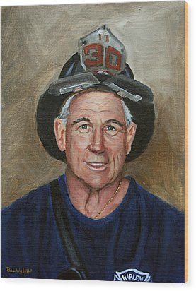 Captain E.j. Wood Print by Paul Walsh