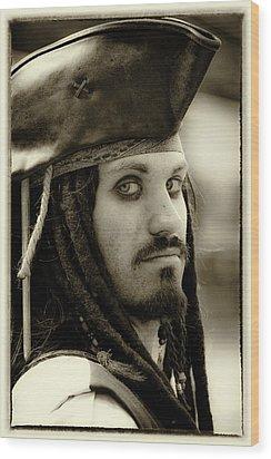 Captain Jack Sparrow Wood Print by David Patterson