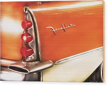 Car - The Wing Wood Print by Mike Savad