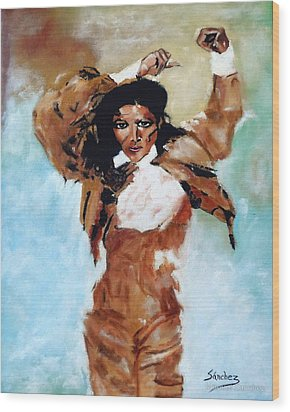 Carmen Amaya Wood Print by Manuel Sanchez