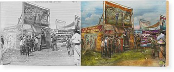 Carnival - Wild Rose And Rattlesnake Joe 1920 - Side By Side Wood Print by Mike Savad