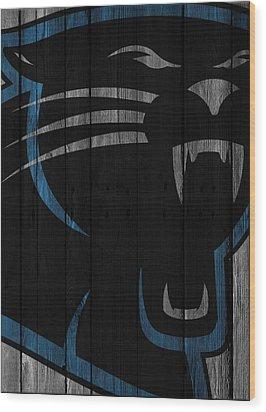 Caroilina Panthers Wood Fence Wood Print by Joe Hamilton