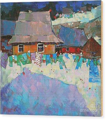 Carpathian Assorted Wood Print by Anastasija Kraineva