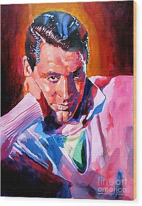 Cary Grant - Debonair Wood Print by David Lloyd Glover