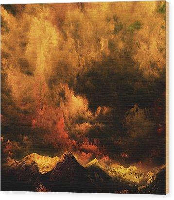 Cascade Storm Wood Print by Jeff Burgess