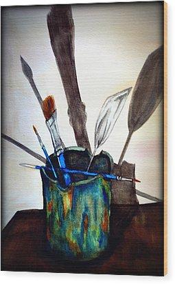 Cast Shadows Wood Print by Colene Milligan