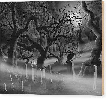 Castle Graveyard I Wood Print by James Christopher Hill