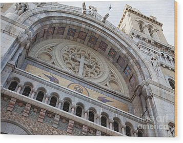 Cathedral Of St Vincent De Paul I Wood Print by Irene Abdou