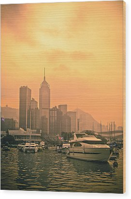 Causeway Bay At Sunset Wood Print by Loriental Photography