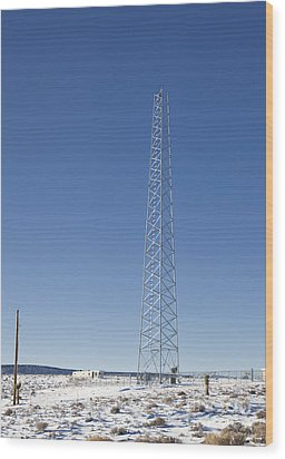 Cellphone Tower Wood Print by David Buffington