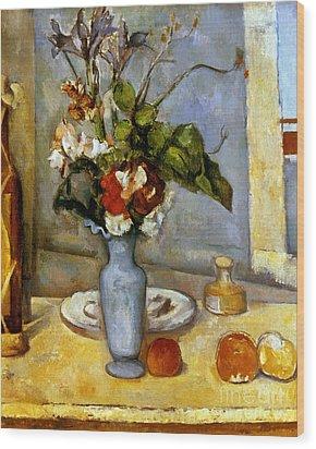 Cezanne: Blue Vase, 1885-87 Wood Print by Granger