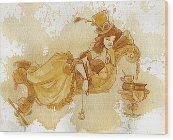 Chaise Wood Print by Brian Kesinger