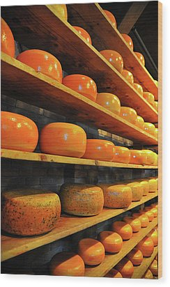 Cheese In Holland Wood Print by Harry Spitz