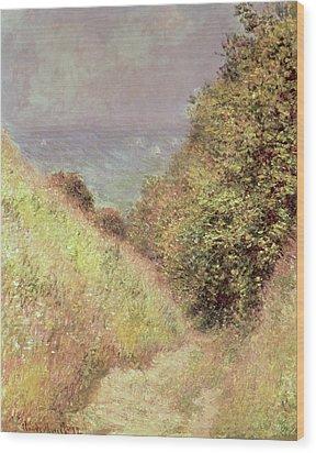 Chemin De La Cavee Pourville Wood Print by Claude Monet