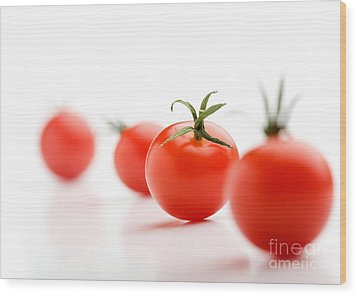 Cherry Tomatoes Wood Print by Kati Molin