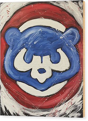 Chicago Cubs Wood Print by Elliott From