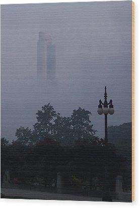 Chicago Mist Wood Print by Anna Villarreal Garbis