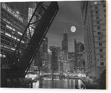 Chicago Pride Of Illinois Wood Print by Frozen in Time Fine Art Photography