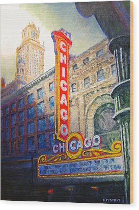 Chicago Theater Wood Print by Michael Durst