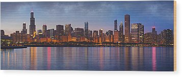 Chicago's Beauty Wood Print by Donald Schwartz