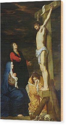 Christ On The Cross Wood Print by Gerard de Lairesse