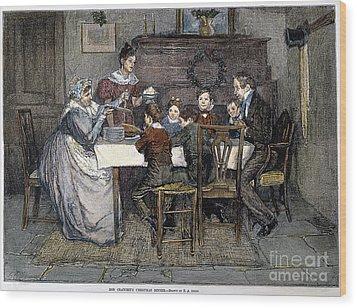 Christmas Carol Wood Print by Granger