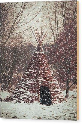 Christmas Tent Wood Print by Wim Lanclus