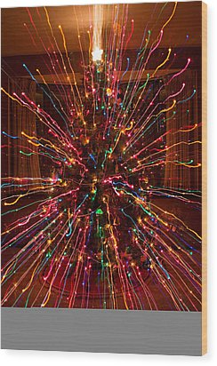 Christmas Tree Colorful Abstract Wood Print by James BO  Insogna