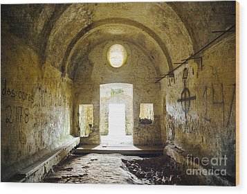 Church Ruin Wood Print by Carlos Caetano